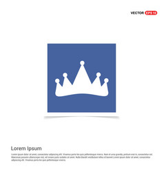 Crown icon - blue photo frame vector