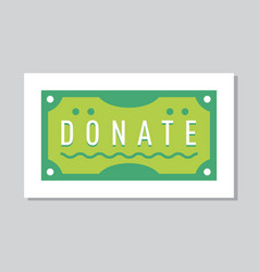 donate button help icon donation vector image