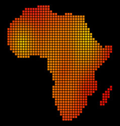 Dotted orange africa map vector
