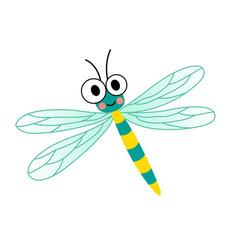 Dragonfly animal cartoon character vector
