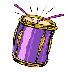 Drum musical instrument vector