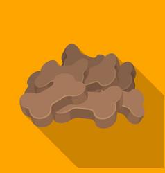 dry animal foodpet shop single icon in black vector image