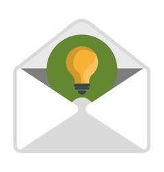 Email with big ideas content icon vector