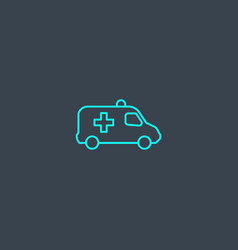 emergency concept blue line icon simple thin vector image