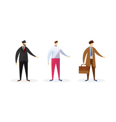 faceless male characters different professions vector image