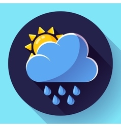 Flat color weather meteorology icon vector