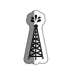 Fuel tower isolated icon vector