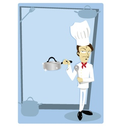 Funny Chef with Copyspace vector image