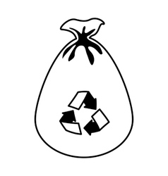 garbage bag isolated icon vector image