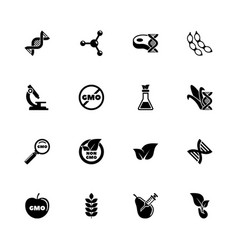 gmo - flat icons vector image