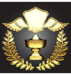 golden award vector image