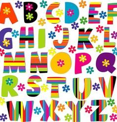 Happy alphabet set vector