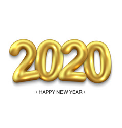 happy new year 2020 holiday background vector image