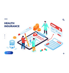 health insurance banner with doctor healthcare vector image