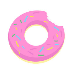 Hipster sprinkled donut float vector