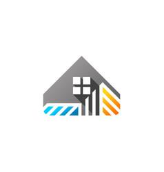 house home real estate construction logo icon vector image