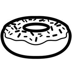 Isolated donut outline vector