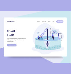 landing page template fossil fuel concept vector image