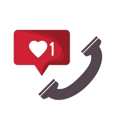 Mail message communication design vector