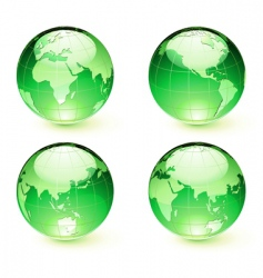 map globes vector image