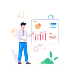 men presentation concept vector image