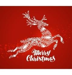 merry christmas greeting card decorative xmas vector image