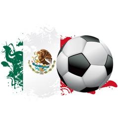 Mexico Soccer Grunge Design vector