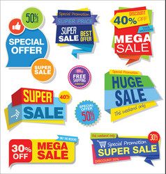 modern sale stickers and tags colorful collection vector image