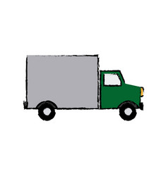 Modern urban vehicle cargo delivery truck vector
