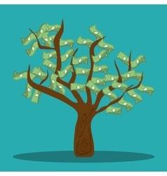 Money savings and bills tree design vector