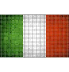 Mosaic flag of italy vector
