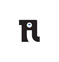 n and i initial logo ni initial monogram logotype vector image