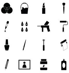 paint icon set vector image