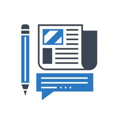 Press release glyph icon vector