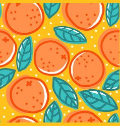 Retro pattern with oranges vector