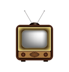 Retro TV on a white background vector