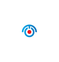 round target technology logo vector image