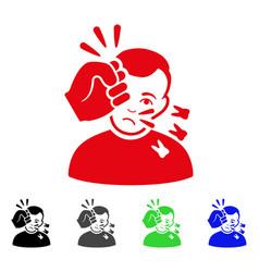 sad head strike icon vector image