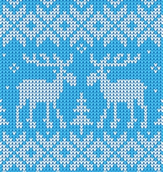 Scandinavian style seamless knitted pattern with vector