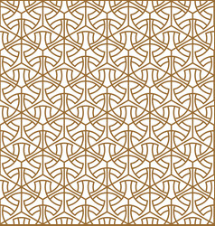 Seamless abstract pattern in golden lines average vector