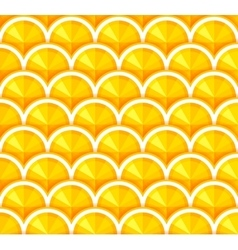 Seamless background with orange slices vector image