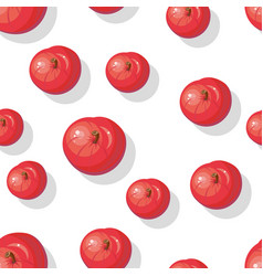 Seamless pattern with apples tasty autumn fruit vector
