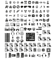 set computers and hardware icons vector image