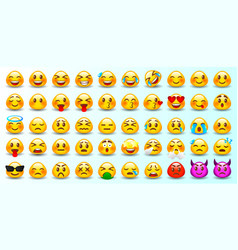 Set emoticons set emoji vector