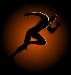 Silhouette of a sprinter vector