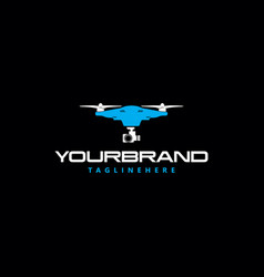 sky drone photography logo vector image