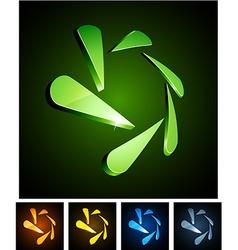 Snowflake vibrant emblems vector