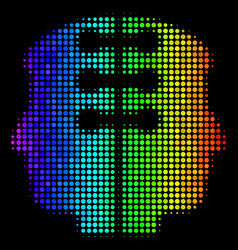 spectrum dotted dual head interface icon vector image