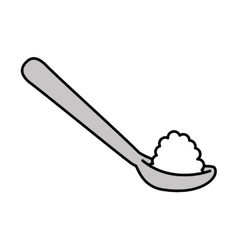 Spoon with sugar isolated icon design vector