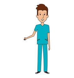 Surgeon professional man health vector